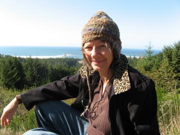 Bea overlooking ocean photo by Chris Arcus